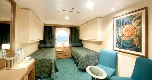 Ocean View stateroom - Wellness Experience