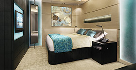 The Haven Aft-Facing Penthouse with Master Bedroom and Balcony